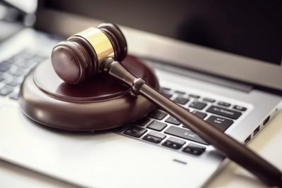 Gavel and Keyboard icons of Outsourcing Legal Transcriptions