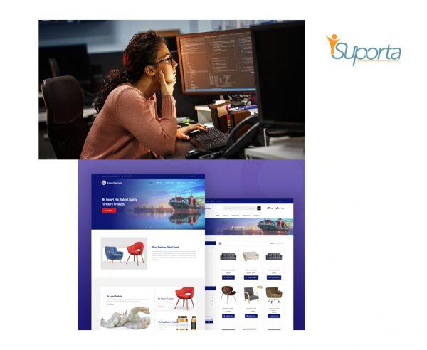 female web developer and ecommerce website