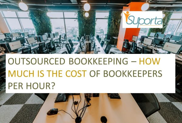 an outsourced bookkeeping office with a row of computers
