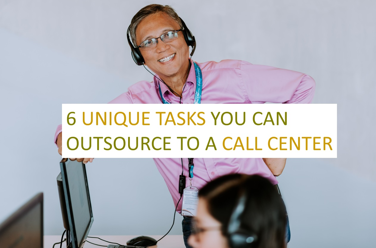 a male remote employee in glasses, smiling happy to work in call center services