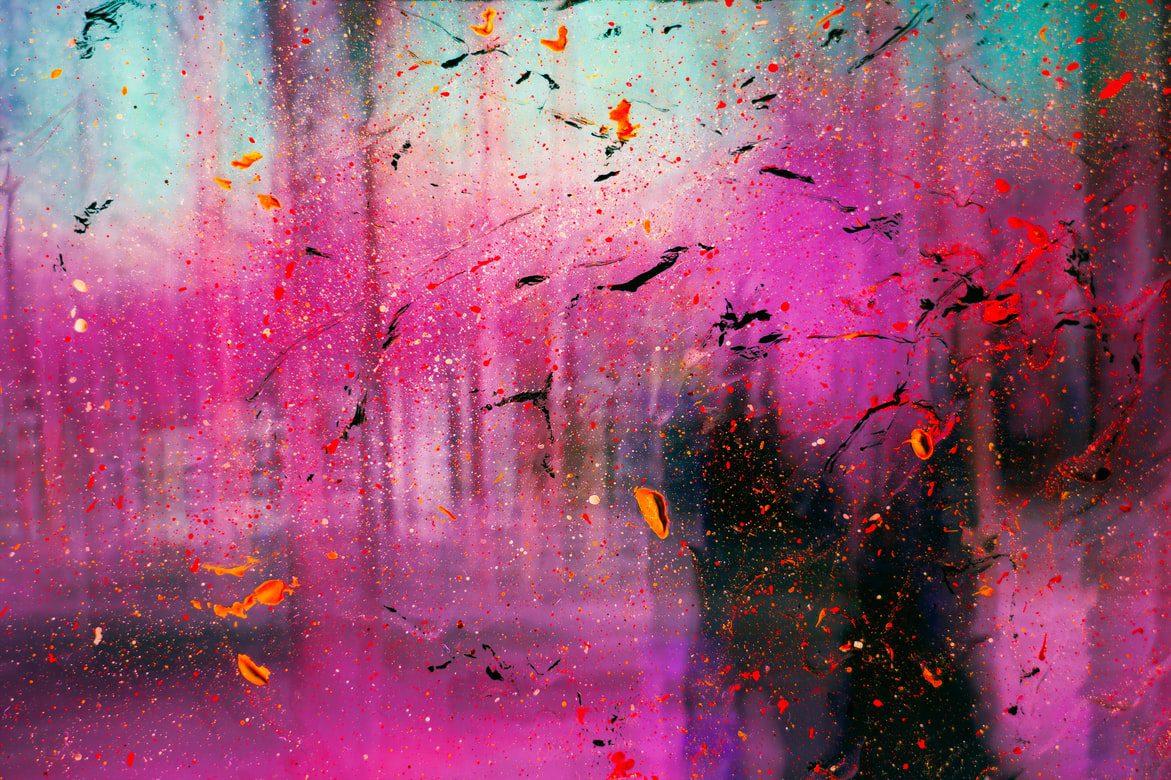 purple abstract piece of art